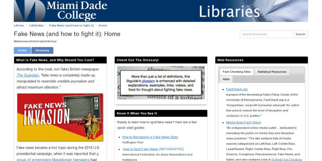 LibGuides: Fake News (and how to fight it): Home