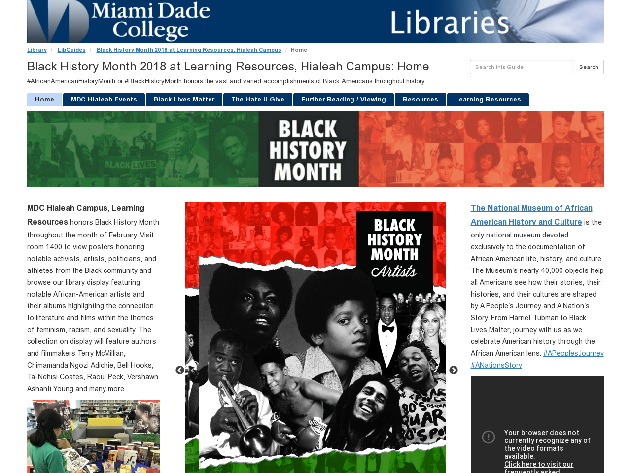 Black History Month 2018 LibGuide