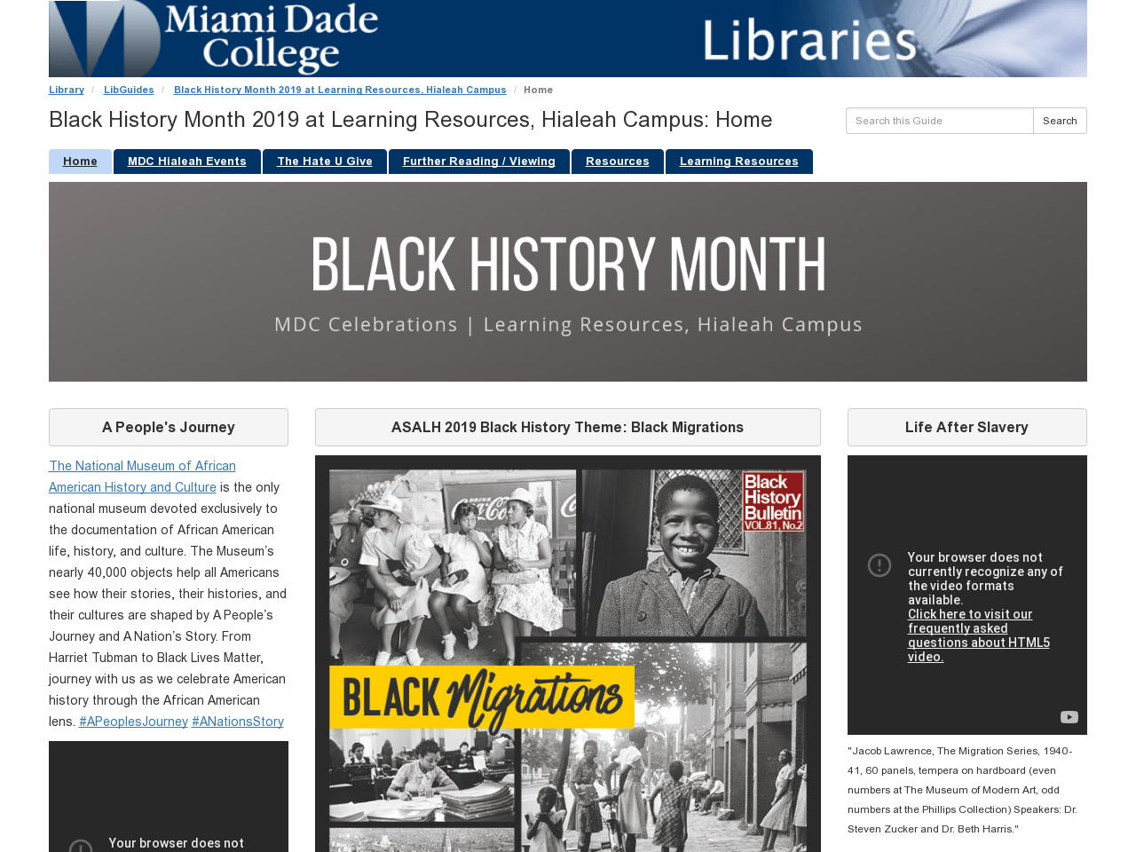Black History Month 2019 LibGuide